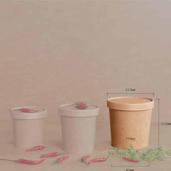 Ekologiczny pojemnik na zupę 26oz 117x87x111 - 770 ml - 25 szt.