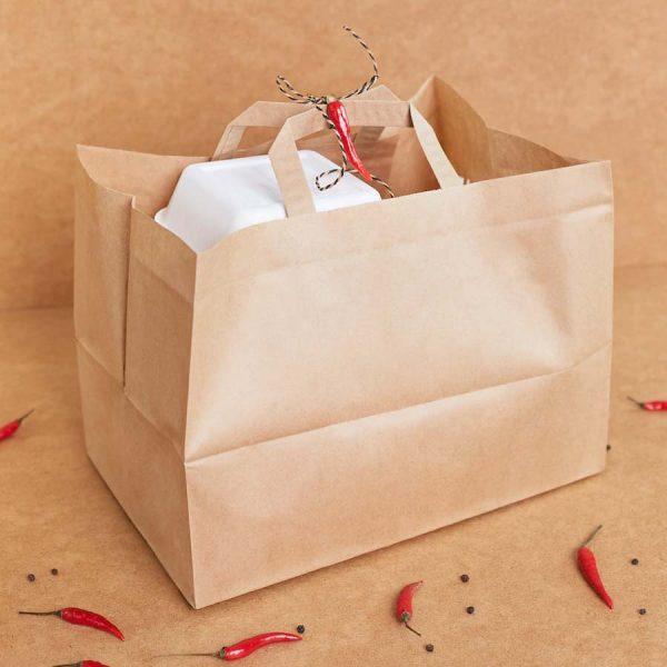 Ekologiczna torba cateringowa KRAFT - 250 szt. - 320x220x245