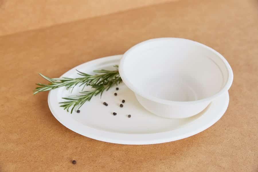 Biodegradowalna miseczka na zupę z trzciny cukrowej <br> pulpa - 154x55 - 50 szt.