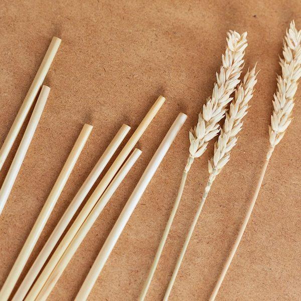 Ekologiczne słomki z ryżu 100 sztuk
