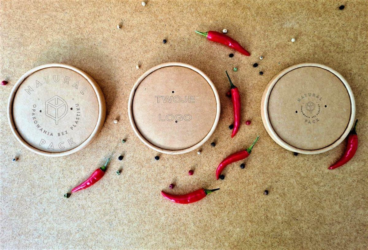 Ekologiczne logowane wieczko do pojemnika na zupę 16oz