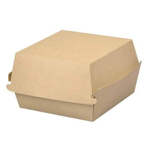 Jednorazowy Burger Box KRAFT XL <br> 77x110x110 - 50 szt.