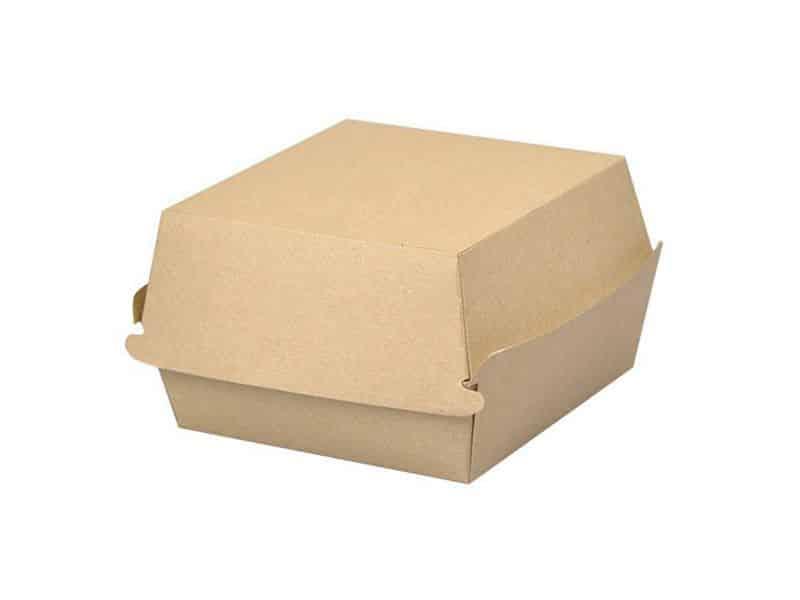 Jednorazowy Burger Box KRAFT XXL <br> 80x140x140 - 50 szt.