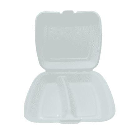 Trzcina MenuBox 9'' 2-dzielny a'la styropian - 230x205x70 - 50 szt.