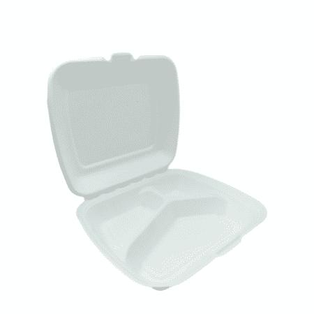"""Trzcina MenuBox 9"""" bez podziału a'la styropian - 230x205x70 - 50 szt."""